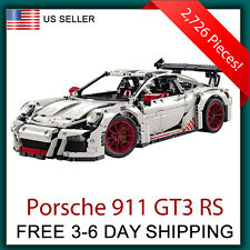 Porsche 911 GT3 RS Silver White - Compatible with Lego Technic 42056 Race Car