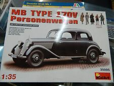 1/35 scale WW2 Mercedes Benz car with figures by MiniArt