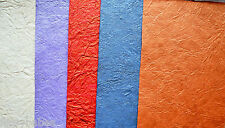 5 Sheets Assorted Handmade Leather Papers 285mm x 190mm Glitter & Pearl NEW
