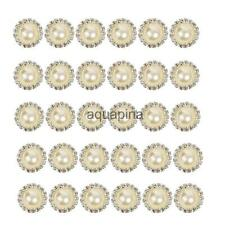 10 Pcs Craft Faux Pearl Rhinestone Sewing Shank Buttons Embellishment Sewing