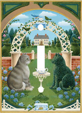 FELINE GARDEN REFLECTION CAT LIGHT SWITCH PLATE COVER