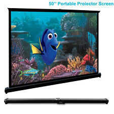 "50"" Portable Desktop Projector Screen 4:3 for HD Home Theater Projection Meeting"