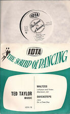 """Ted Taylor Music The Sound of Dancing - Waltzes & Quicksteps UK 45 7"""" EP PS"""