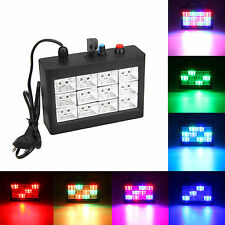 12x RGB LED Disco Party DJ Strobe Laser Light Sound Activated Stage Effect AU