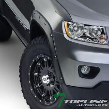BLK BOSS POCKET STYLE FENDER FLARES KIT WHEEL COVER 6P 2011+ JEEP GRAND CHEROKEE