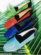 PUBLICITE ADVERTISING 065  1997  TED LAPIDUS  collection chaussures mocassins