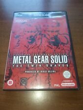 nintendo gamecube metal Gear solid the twin snakes completo PAL