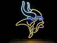 Vikings Real Vintage Neon Light Sports Team Sign Home Bar Collectible Sign