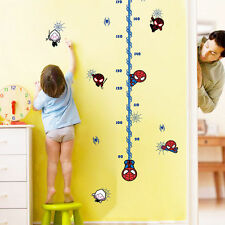 Spiderman Height Measure Growth Chart  Wall Stickers Home Decor Kids Baby Decal