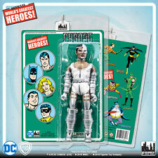 Official DC Comics Cyborg 8 inch Action Figure on Mego-Like Retro Card
