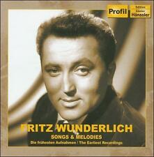 NEW - Fritz Wunderlich: Songs and Melodies by Fritz Wunderlich