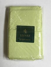 NIP Ralph Lauren 2 King Pillow Cases Crystal Cay Lime Green Pinstripe
