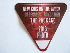 New Kids On The Block To Boys Men 98 Degrees 2013 Tour Red Photo Backstage Pass