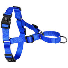 Stop Pulling Nylon Easy Walking Dog Harness No Choke for Dogs S M L 3 Colors