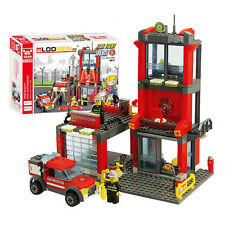 300pcs City Fire Station Building Blocks Bricks Set Truck Model Toy Gift for Kid