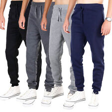 New Mens Gym Slim Fit Sport Trousers Tracksuit Bottoms Skinny Jogger Sweat Pants