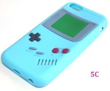 iPhone 5C - SOFT SILICONE RUBBER SKIN CASE COVER BABY BLUE GBA GAMEBOY PLAYER