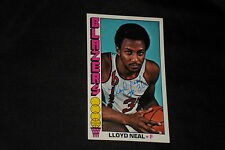 LLOYD NEAL 1976-77 TOPPS SIGNED AUTOGRAPHED CARD #7 BLAZERS