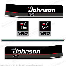 Johnson 1988-1990 115hp V4 Decal Kit - Discontinued Decal Reproductions in Stock