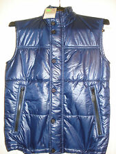 100% AUTHENTIC NEW MEN'S BURBERRY MARINE BLUE SNOW VEST JACKET/COAT US S