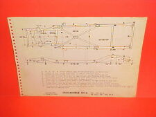 1954 OLDSMOBILE 98 STARFIRE SUPER 88 CONVERTIBLE HOLIDAY FRAME DIMENSION CHART