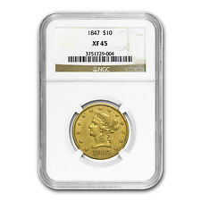 1847 $10 Liberty Gold Eagle Xf-45 Ngc - Sku #34436