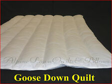 GOOSE DOWN QUILT SINGLE BED SIZE  3 BLANKET WARMTH 100% COTTON COVER