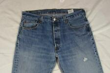 Levi 501 Button Fly Straight Leg Hige Fade Denim Jeans Tag 36x29 Measure 36x29.5