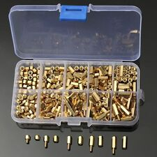 300Pcs M3 Brass Standoff/Spacer And Brass Hex Stand-Off Pillars DIY Set New