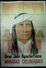 RARE ORIGINAL 1941 FULL COLOR POSTER OF LEGENDARY APACHE CHIEF MANGAS COLORADAS!