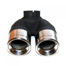 Smart 451 Diesel ab 4.07 - 10.10 2x 60mm Endrohr aus Edelstahl + Schelle