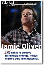 My Aim Is to Achieve Sustainable Change - Jamie Oliver - Famous Person POSTER