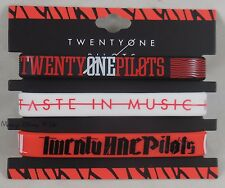 New 21 Twenty One Pilots Logo Taste In Music Rubber Bracelet 3 Pack Wristband