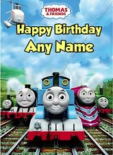 - THOMAS THE TANK ENGINE - IDEAL FOR SON PERSONALISED CHILDREN'S BIRTHDAY CARD