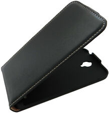 Alcatel One Touch Idol 2 Mini - Flip Case - Schwarz - Etui Hülle Flipcase Tasche