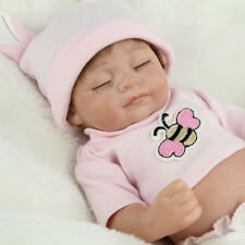Handmade Lifelike Baby Girl Vinyl Reborn Real Looking Newborn Doll +Clothes 10''