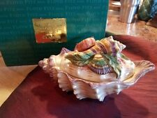 *New Fitz & Floyd Classics Decorative Sea Shell Covered Dish Serving Bowl-Oceana