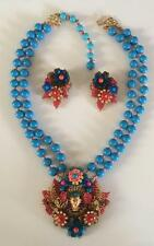 VINTAGE STANLEY HAGLER pharaoh demi parure necklace & earrings
