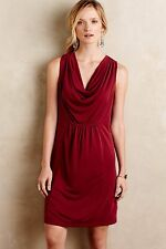 NWT Anthropologie Cara Cowl Neck Shift Dress by Maeve, Red - S M, L XL, Black-L