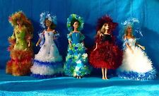 noel filles sensation 5 robes de poupée barbie princesse faites main Nice France
