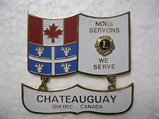 Lions Club Pin Canada Quebec We Know We Serve Chateauguay