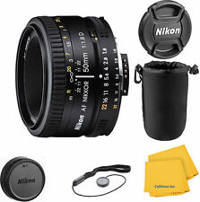 Nikon Nikkor 50 mm F/1.8 D SIC AF Lens with Pouch Bundle