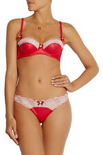 L'Agent by Agent Provocateur Marisela Mini Brief Valentino Red/Pink Size S