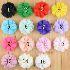 DIY Lot 15 Baby Girl Toddler Chiffon Flower Hair bow For Headband Clips Corsage