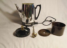 VINTAGE COFFEE POT GENERAL ELECTRIC 473 A 8 CUP PERCOLATOR AUTOMATIC 660 WATTS