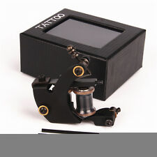 Profession 8 Wrap 28mm Copper Coils Tattoo Machine Gun Steel For Liner Black