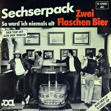 "7"" SECHSERPACK Zwei Flaschen Bier 6-er PACK POOL 45rpm Blues-Rock orig. 1980"