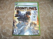 Frontlines: Fuel of War  (Xbox 360, 2008) EUC