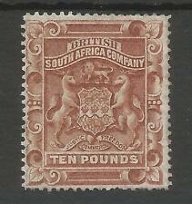 RHODESIA ,BRIT.S.A. CO SG13 THE SCARCE 1892-3 QV £10 BROWN MINT WITH CERT C£2750