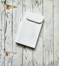 100 White Mini Envelopes, Gift Enclosure, Business Card Holder, Wedding